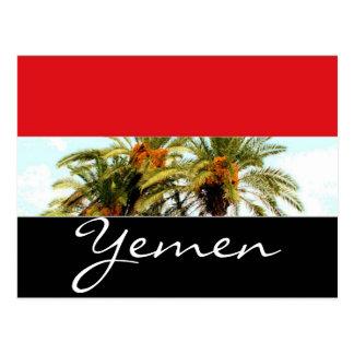 Yemen flag postcard