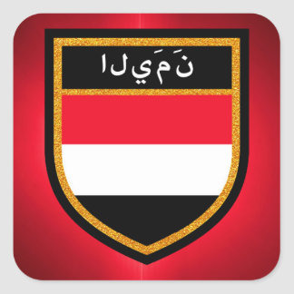 Yemen Flag Square Sticker