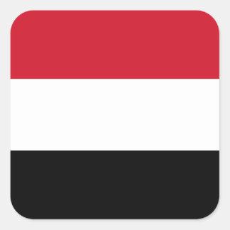 Yemen Flag Square Sticker