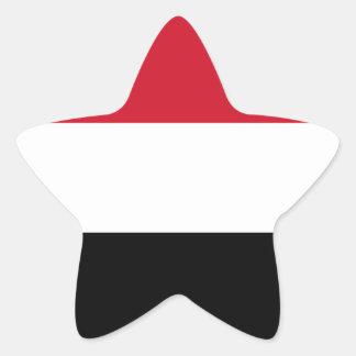 Yemen Flag Star Sticker