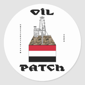 Yemen Oil Patch,Sticker,Alif Oil Field,Oil,Gas Classic Round Sticker