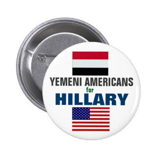 Yemeni Americans for Hillary 2016 6 Cm Round Badge