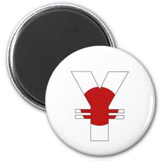 yen currency symbol money sign japan flag refrigerator magnets