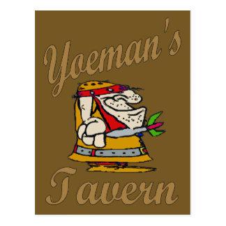 Yeoman's Tavern, Dart Player Postcard
