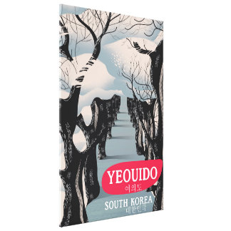 Yeouido South Korea travel poster Canvas Print