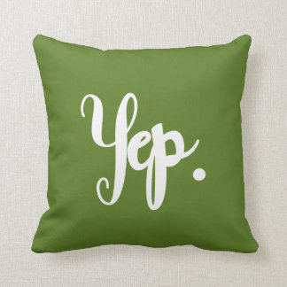 Yep or Nope Fun Hand-Lettered Typography Word Art Cushion