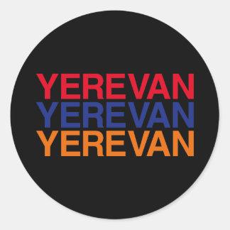 YEREVAN ROUND STICKER