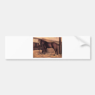 Yerres, Reddish Bay Horse in the Stable by Gustave Bumper Sticker