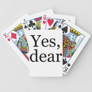 Yes Bicycle Playing Cards