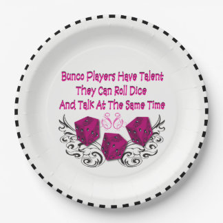 Yes, Bunco Players Have Talent Paper Plate