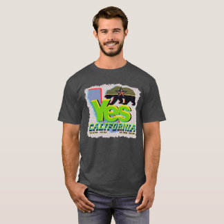 YES CALIFORNIA CALEXIT Yellow+Black Bear T-Shirt