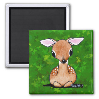 Yes Deer KiniArt Fawn Magnet