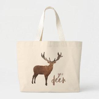 Yes Deer Tote Bag