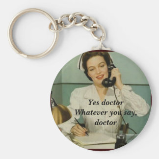 Yes Doctor Funny Vintage Nurse Key Ring