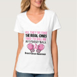 Yes Fake I Fought Back Breast Cancer Awareness T-Shirt