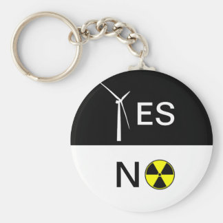 """""""YES"""" FOR CLEAN ENERGY BASIC ROUND BUTTON KEY RING"""