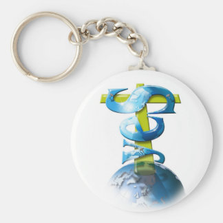 Yes God Basic Round Button Key Ring
