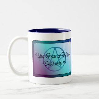 Yes I am a Witch! Deal with it! Two-Tone Coffee Mug
