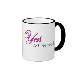 Yes I AM Perfect Ringer Mug