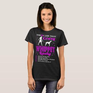 Yes I Am That Crazy Whippet Dog Lady Tshirt