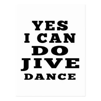 Yes I Can Do Jive Dance Postcard
