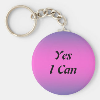 Yes I Can Keychain