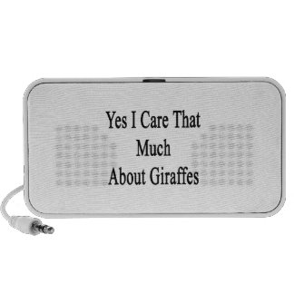 Yes I Care That Much About Giraffes Mp3 Speakers