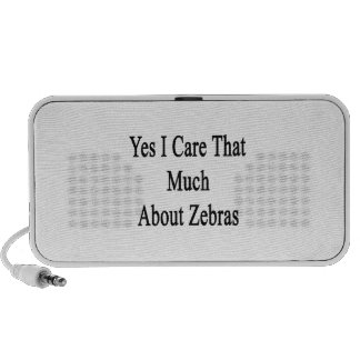 Yes I Care That Much About Zebras PC Speakers