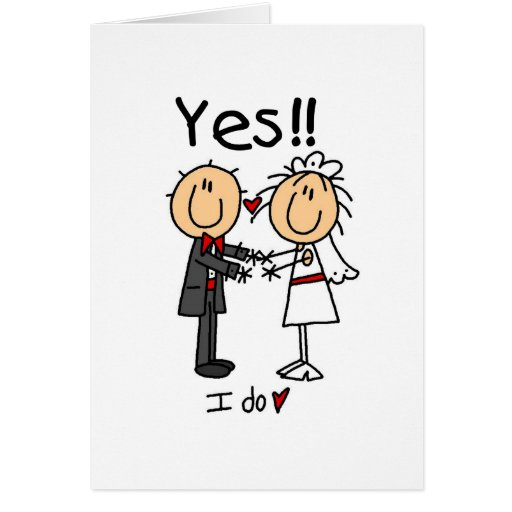 YES I Do Bride and Groom T-shirts and Gifts Card