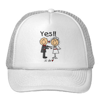 YES I Do Bride and Groom T-shirts and Gifts Trucker Hats
