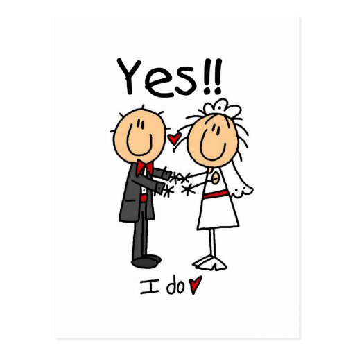 YES I Do Bride and Groom T-shirts and Gifts Post Cards