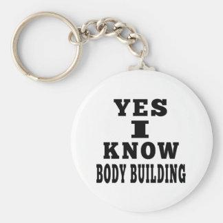 Yes I Know Body Building Key Chain