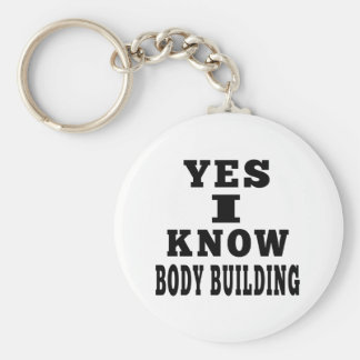 Yes I Know Body Building Key Chain
