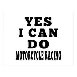 Yes I Know MOTORCYCLE RACING Postcard