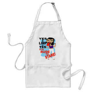 Yes I Limp & Yes It's Rude To Stare Aprons