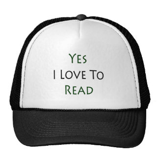 Yes I Love To Read Mesh Hat