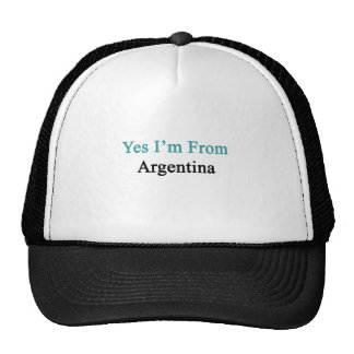Yes I m From Argentina Mesh Hat