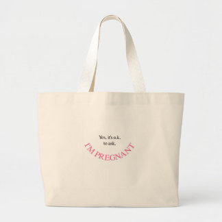 Yes I m Pregnant Maternity Shirts and Swag Pink Tote Bags