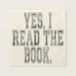 Yes I Read the Book Grey Disposable Serviette