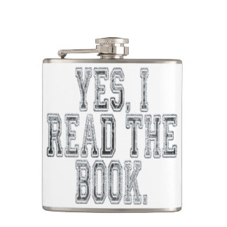 Yes I Read the Book Grey Flask