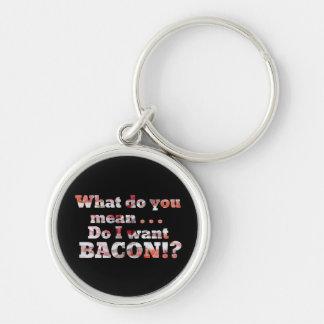 Yes I Want Bacon Keychains