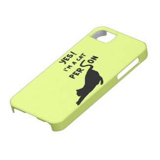 Yes! Im a cat person iPhone 5 Case