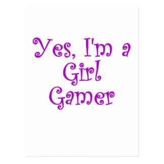 Yes Im a Girl Gamer Postcard