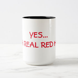 YES... I'M A REAL RED HEAD Two-Tone COFFEE MUG
