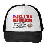 """""""Yes, I'm A Republican""""... Ball Cap Trucker Hats"""