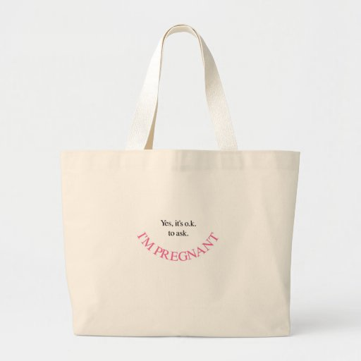 Yes I'm Pregnant Maternity Shirts and Swag (Pink) Tote Bags