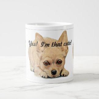 Yes, I'm that Cute! Chihuahua by Carol Zeock Large Coffee Mug