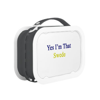 Yes I'm That Swede Lunch Boxes