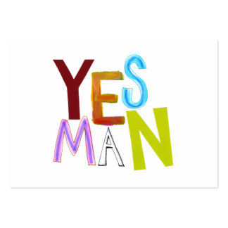 Yes man obedient supporter flunky fun word art large business cards (Pack of 100)