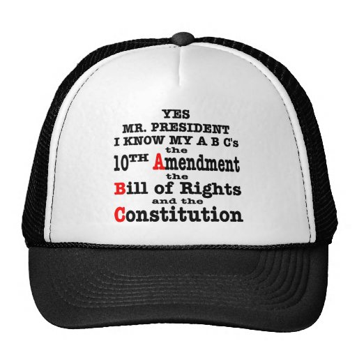 Yes Mr. President I Know My ABC's The 10th Amend Hat